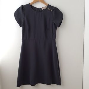 Mini gray dress. Loft. Petite.